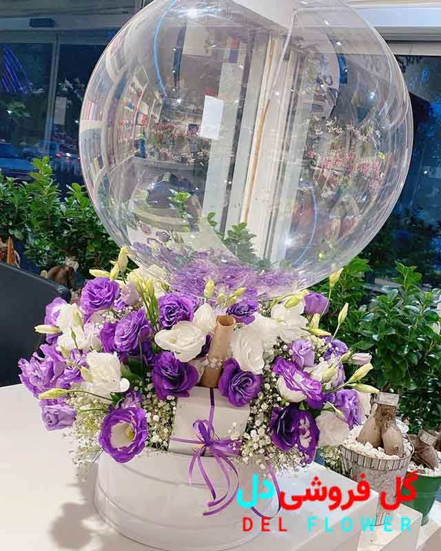 خرید آنلاین گل تولد با بادکنک