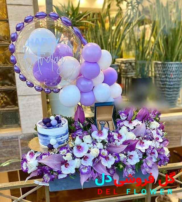 گل و کیک سورپرایزی برای تولد