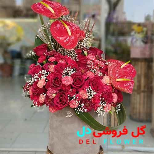 سبد گل عاشقانه