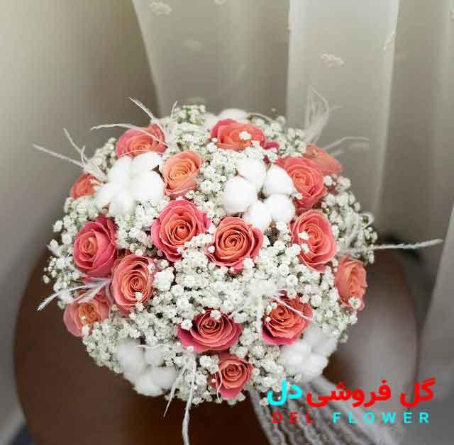 دسته گل عروس رز مینیاتوری