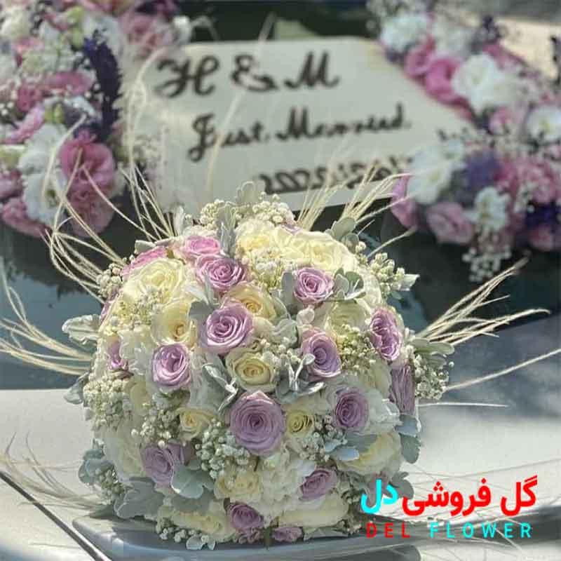 دسته گل عروس توپی گرد