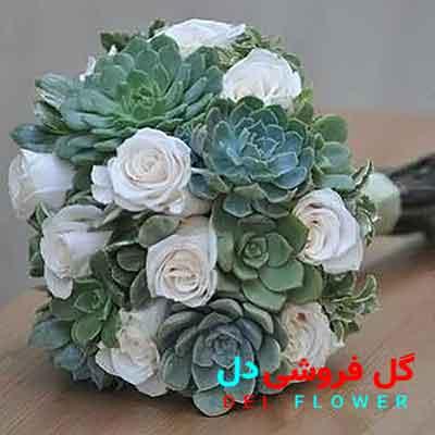 دسته گل عروس سفید