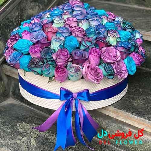 باکس گل رز رنگی